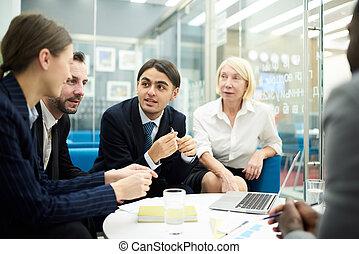biuro, brainstorming