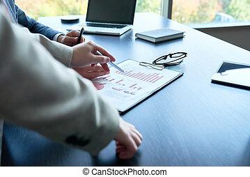 biuro, handlowy, analytics
