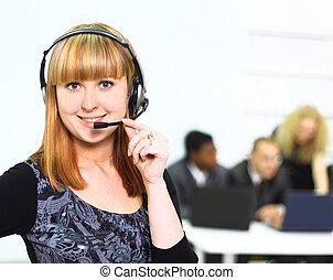 biuro, kobieta handlowa