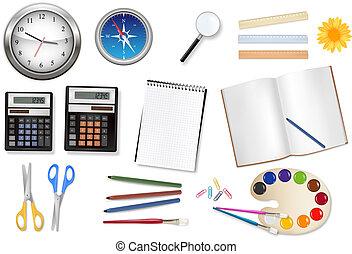 biuro, komputer, supplies.