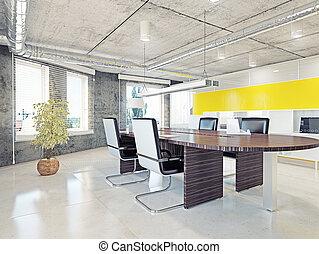 biurowe wnętrze, nowoczesny