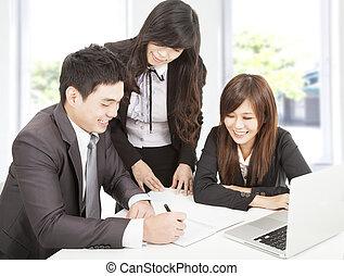 biurowy zaprzęg, pracujący, handlowy
