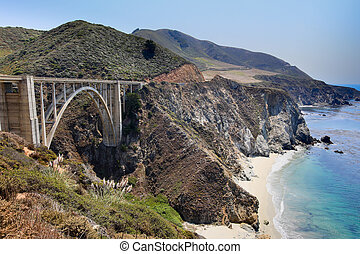 Bixby Bridge, Big Sur, California - Bixby Creek Bridge, also...