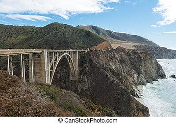 Bixby Bridge on Cabrillo Highway - Bixby Bridge along the...