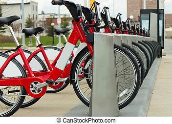 bixi, vélos, dans, ottawa, canada