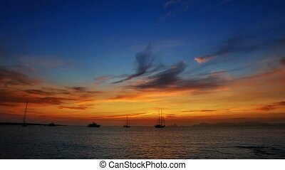 biza sea sunset view from island
