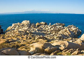 Capo Testa - bizarre rocks at Capo Testa, Sardinia, Italy, ...