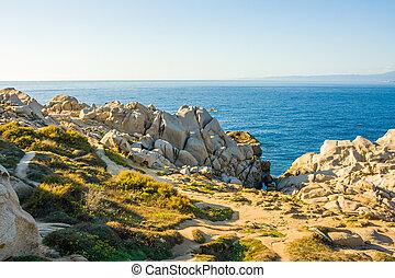 bizarre rocks at Capo Testa, Sardinia, Italy