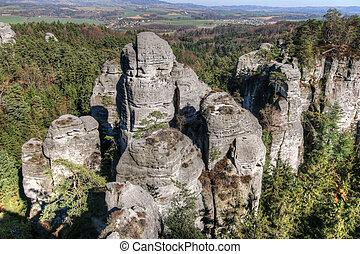 Bizarre rocks in Bohemian Paradise