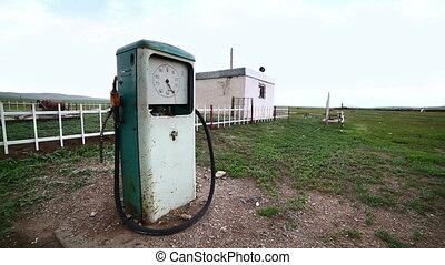 bizarre, station, pompe gaz, mongolie