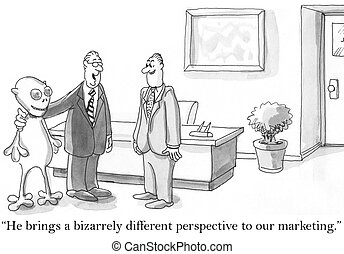 bizarrely, différent, commercialisation, perspective, apporte, il