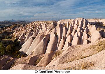 bizarro, geológico, formações, em, cappadocia