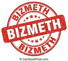 bizmeth red grunge stamp