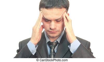 biznesmen, ból głowy