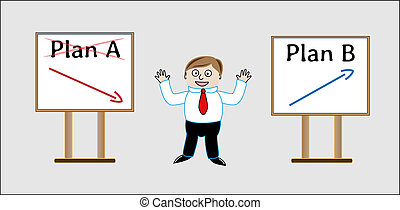biznesmen, b, -, plan