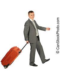 biznesmen, bagaż