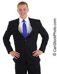 biznesmen, biodra, siła robocza
