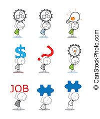 biznesmen, dźwig, idea, pieniądze