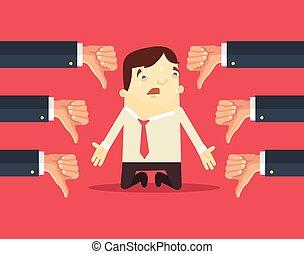 biznesmen, dużo, smutny, siła robocza