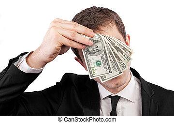 biznesmen, dzierżawa pieniądze