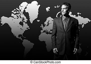 biznesmen, globalny