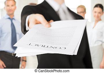 biznesmen, kontrakt