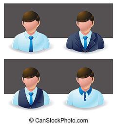 biznesmen, :, ludzie, ikona