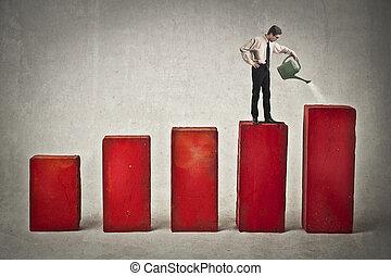 biznesmen, na, statystyczny