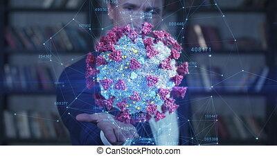 biznesmen, ożywienie, ultra, 3840x2160., jego, coronavirus, ...