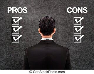 biznesmen, okładzina, wybory, od, lokata, transakcja