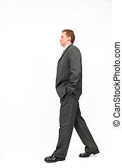 biznesmen, pieszy