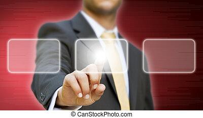 biznesmen, pojęcie, rozłączenie
