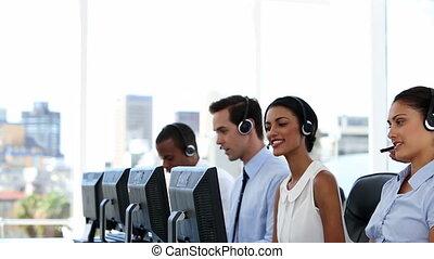 biznesmen, praca, objaśniając