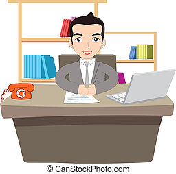 biznesmen, pracujące biuro