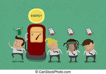 biznesmen, recharge, energia