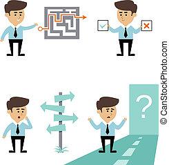 biznesmen, rewizja, decyzja
