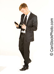 biznesmen, smartphone