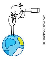 biznesmen, &, sposobność, świat
