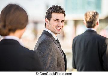 biznesmen, spotkanie