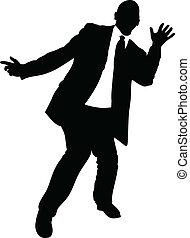 biznesmen, taniec