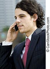 biznesmen, telefon