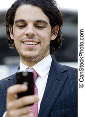 biznesmen, texting