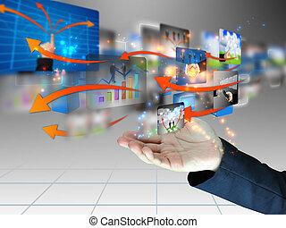 biznesmen, towarzyski, dzierżawa, media