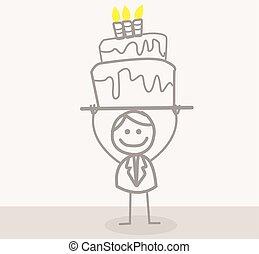biznesmen, urodziny