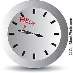 biznesmen, zgodnie z kierunkiem wskazówek zegara, oprawa, rysunek
