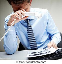 biznesmen, zmęczony