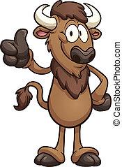 bizon, spotprent