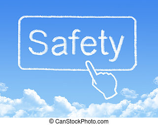 biztonság, üzenet, felhő, alakít
