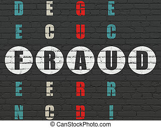 biztonság, concept:, csalás, alatt, keresztrejtvény