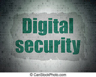 biztonság, concept:, digitális, biztonság, képben látható, digitális, adatok, dolgozat, háttér